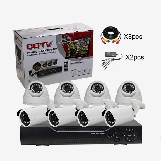 AG-AK8203 8CH AHD DVR Camera KIT